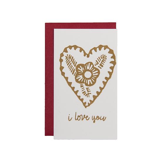 I Love You (Mini Card)