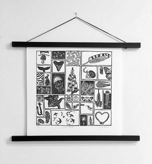 My Curio Cabinet - Limited Edition Linocut Print