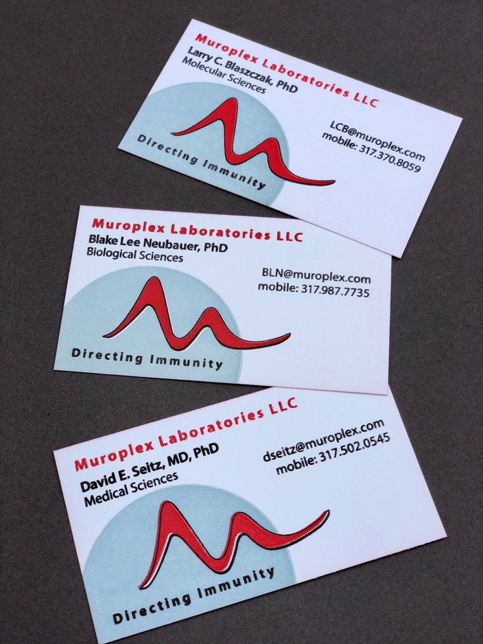 Science-minded: Business Cards and Logo Design