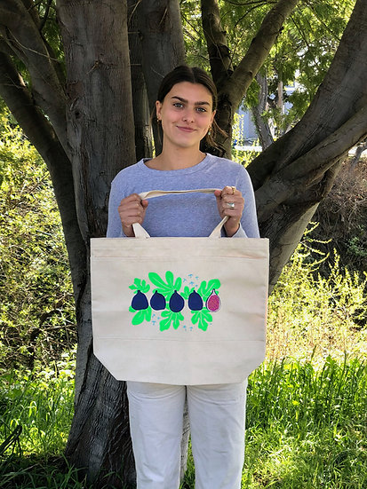Fig Canvas Tote Bag