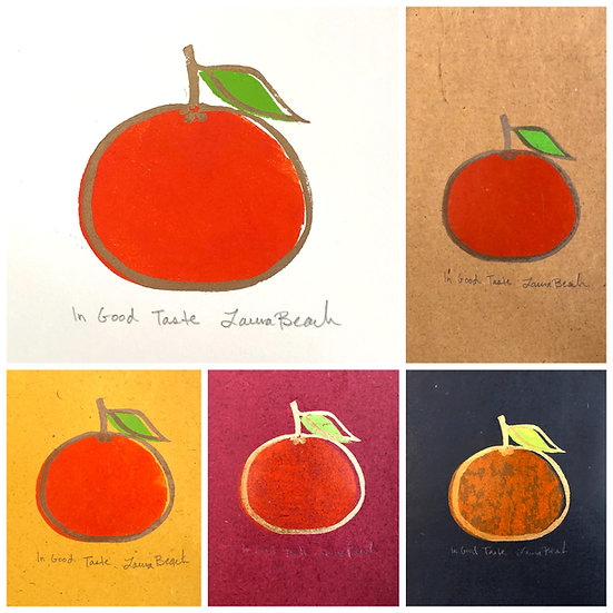 Unframed Clementine Woodcut - In Good Taste