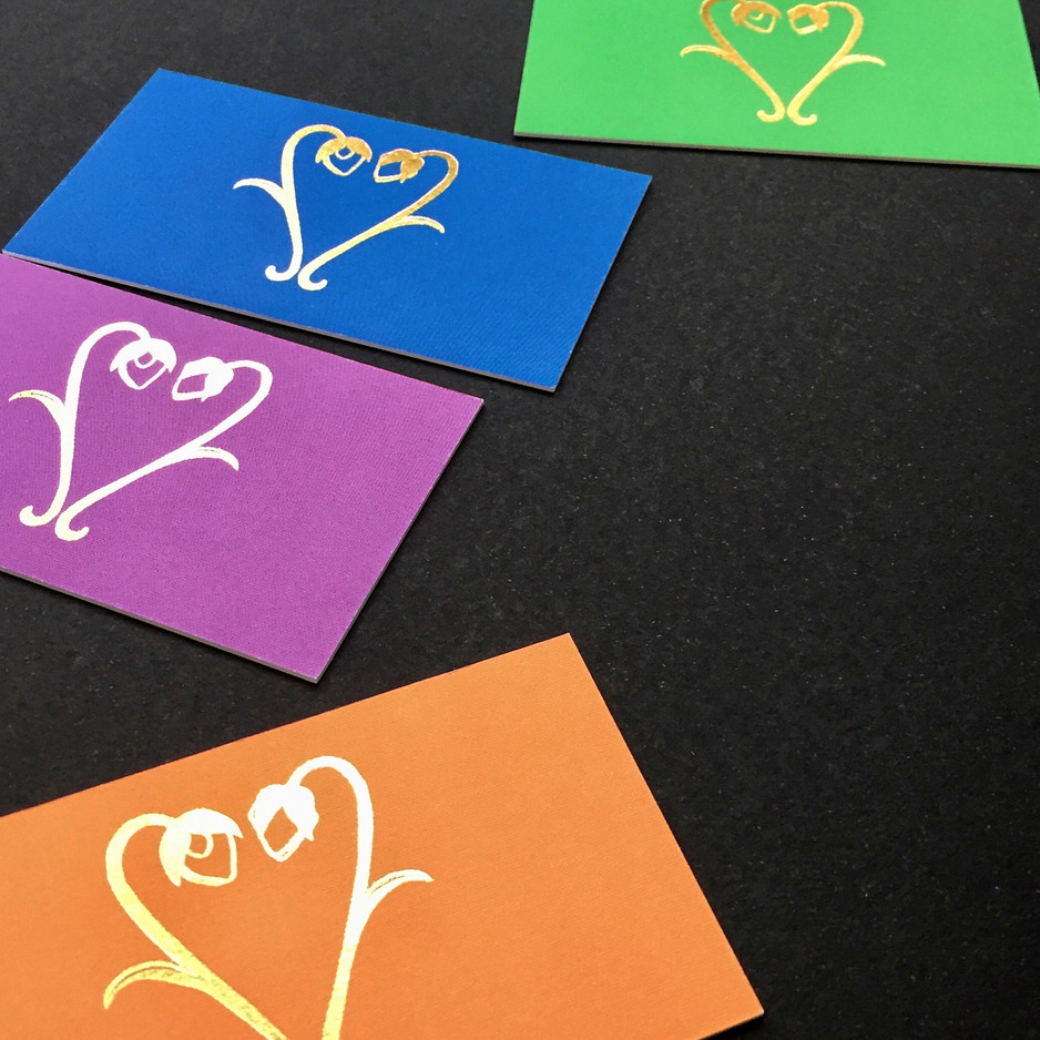 A Colorful Array: All the colors business cards