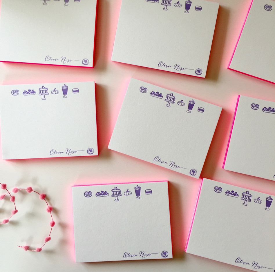 Bat Mitzvah Celebration in the City: Personalized Stationery