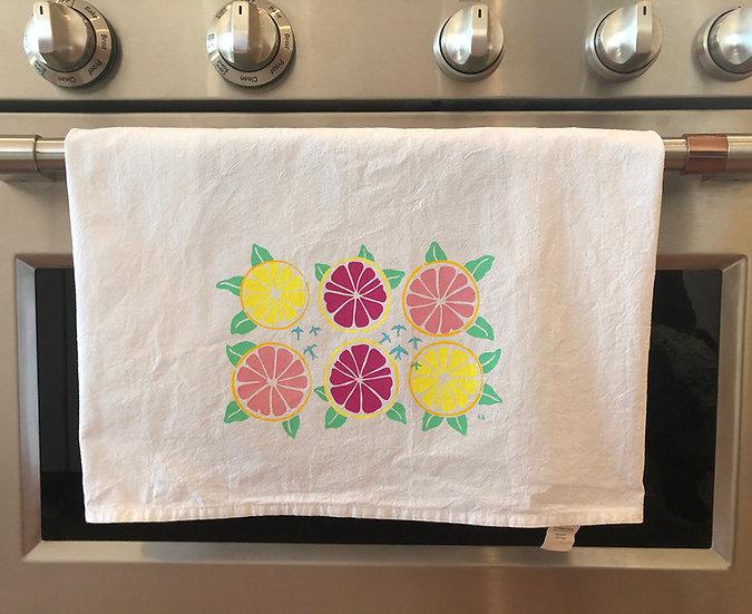 Grapefruit Tea Towel