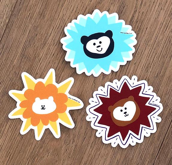 Three Bears Stickers