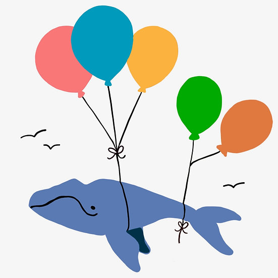 Whale Balloons Baby Apparel