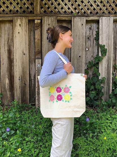 Grapefruit Canvas Tote Bag