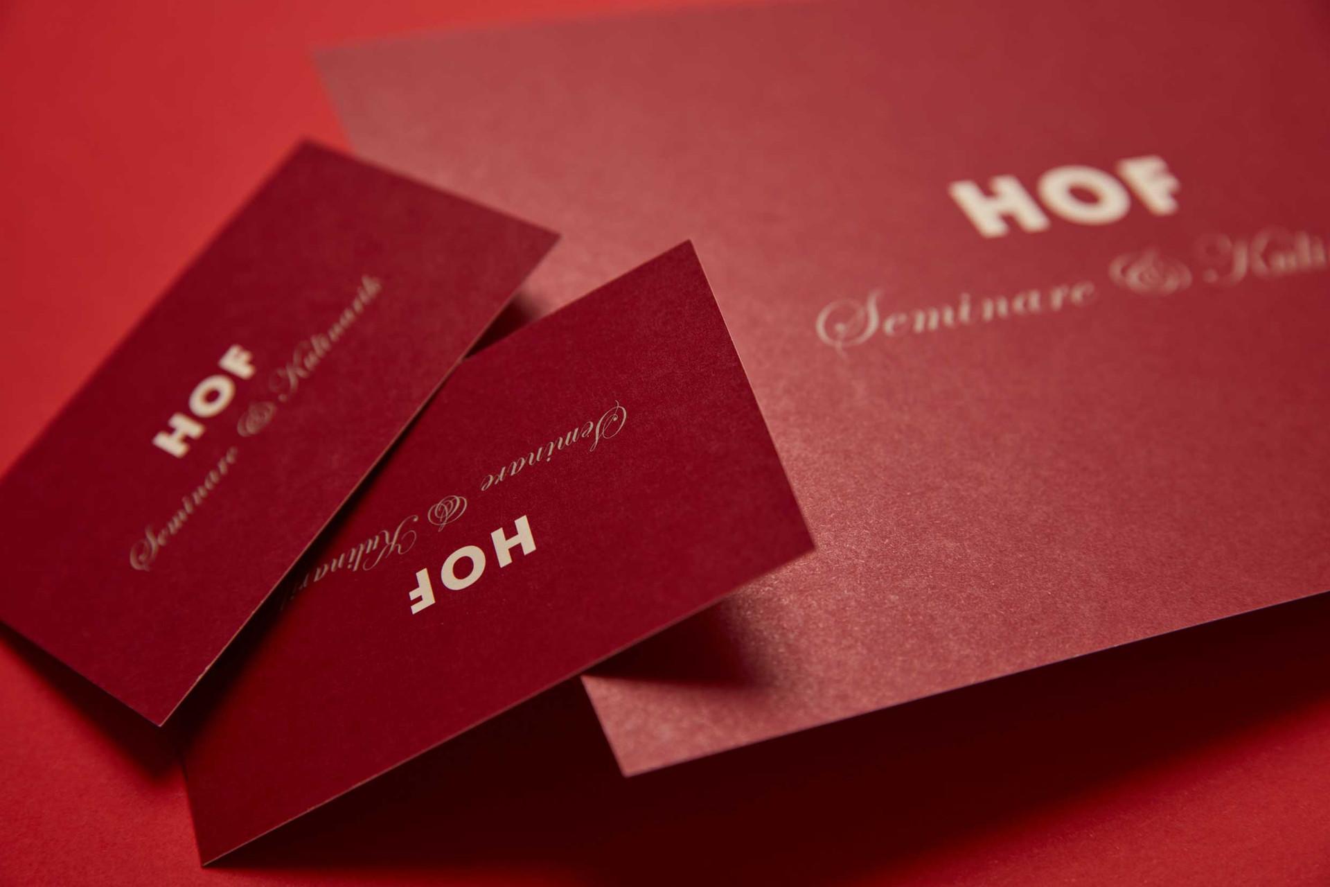 Logo & Drucksachen / Hof, Seminare & Kulinarik