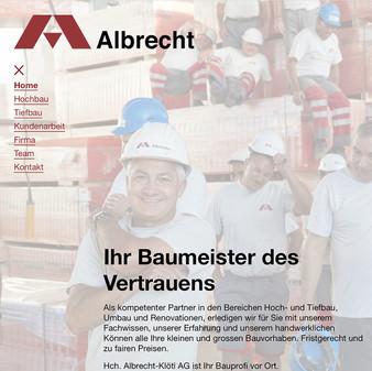 Albrecht, Ihr Baumeister des Vetrauens