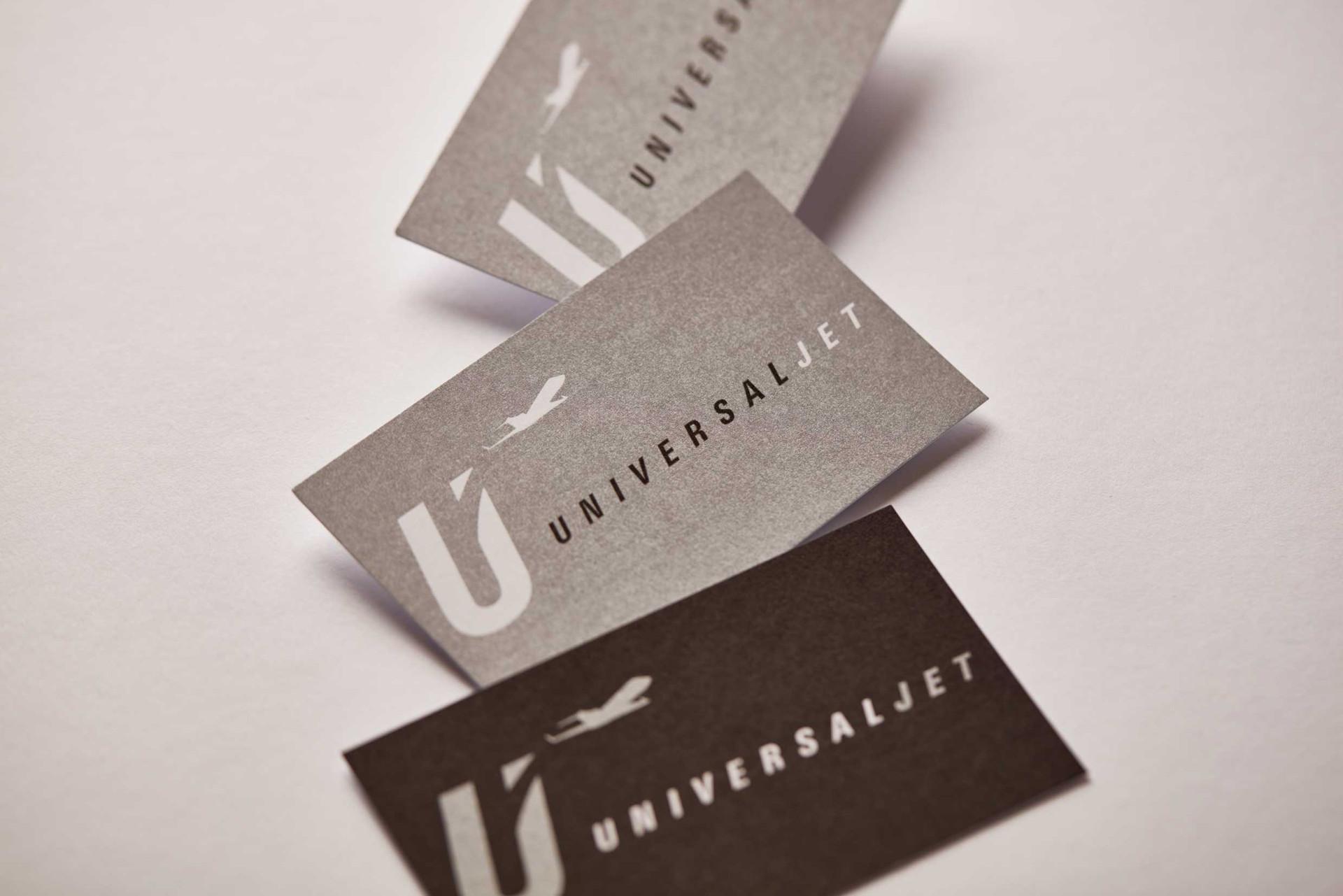 Logo & Visitenkarten / Universaljet, Aircraft Charter Firma