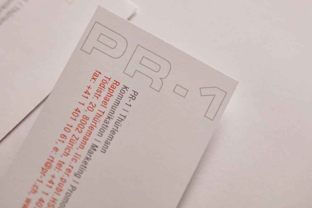 Logo & Drucksachen / PR-1, Beratung und Projektleitung in den Bereichen Kommunikation, Public Relations und Marketing