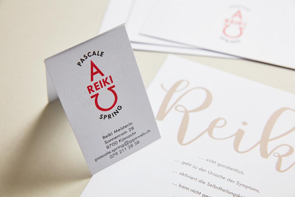 Logo & Visitenkarten / Pascale Spring, Reikimeisterin