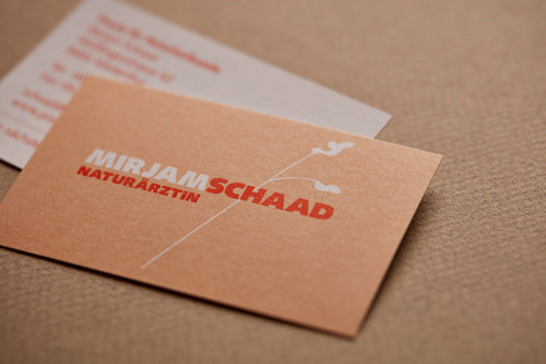 Logo & Visitenkarten / Mirjam Schaad, Naturärztin