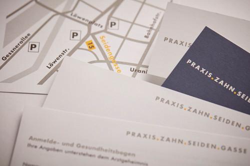 Logo & Drucksachen / Praxis.Zahn.Seiden.Gasse, Zahnarztpraxis an der Seidengasse