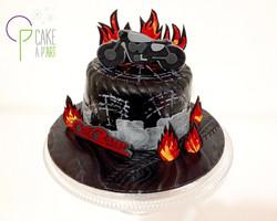 Gâteau sur mesure anniversaire adulte - Thème Moto Café Racer