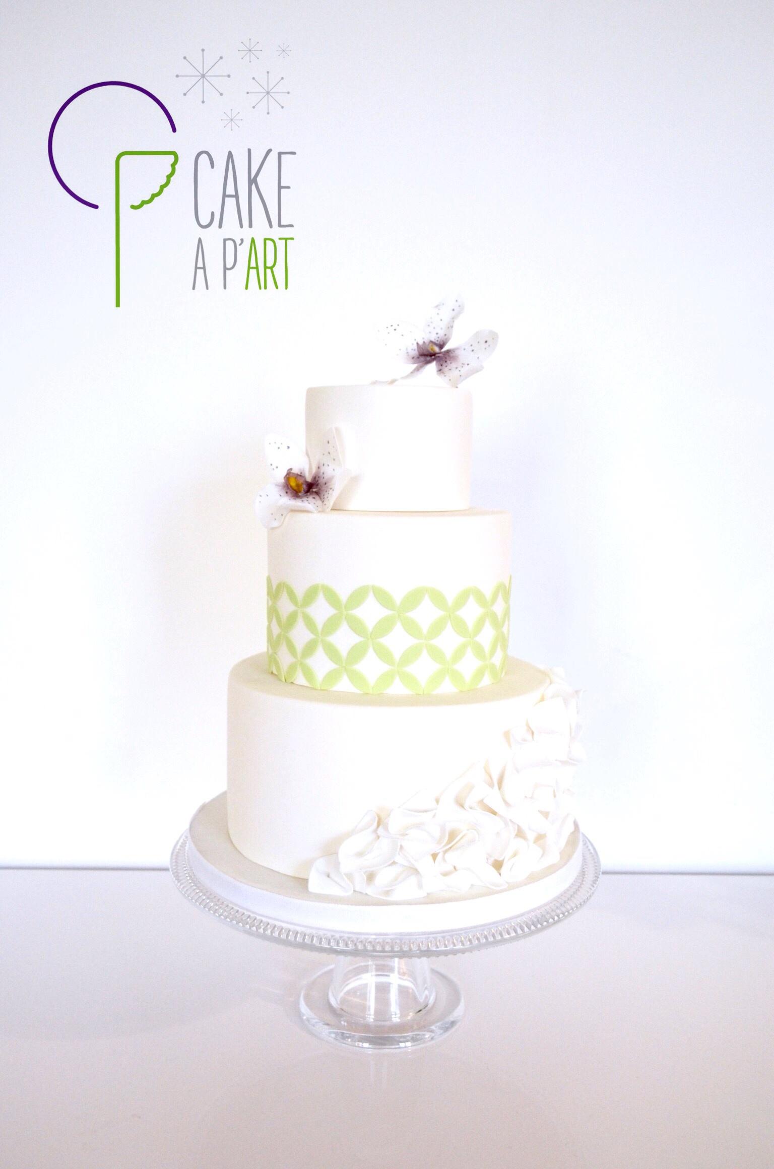 Gâteau Mariage Floral - Cakeapart