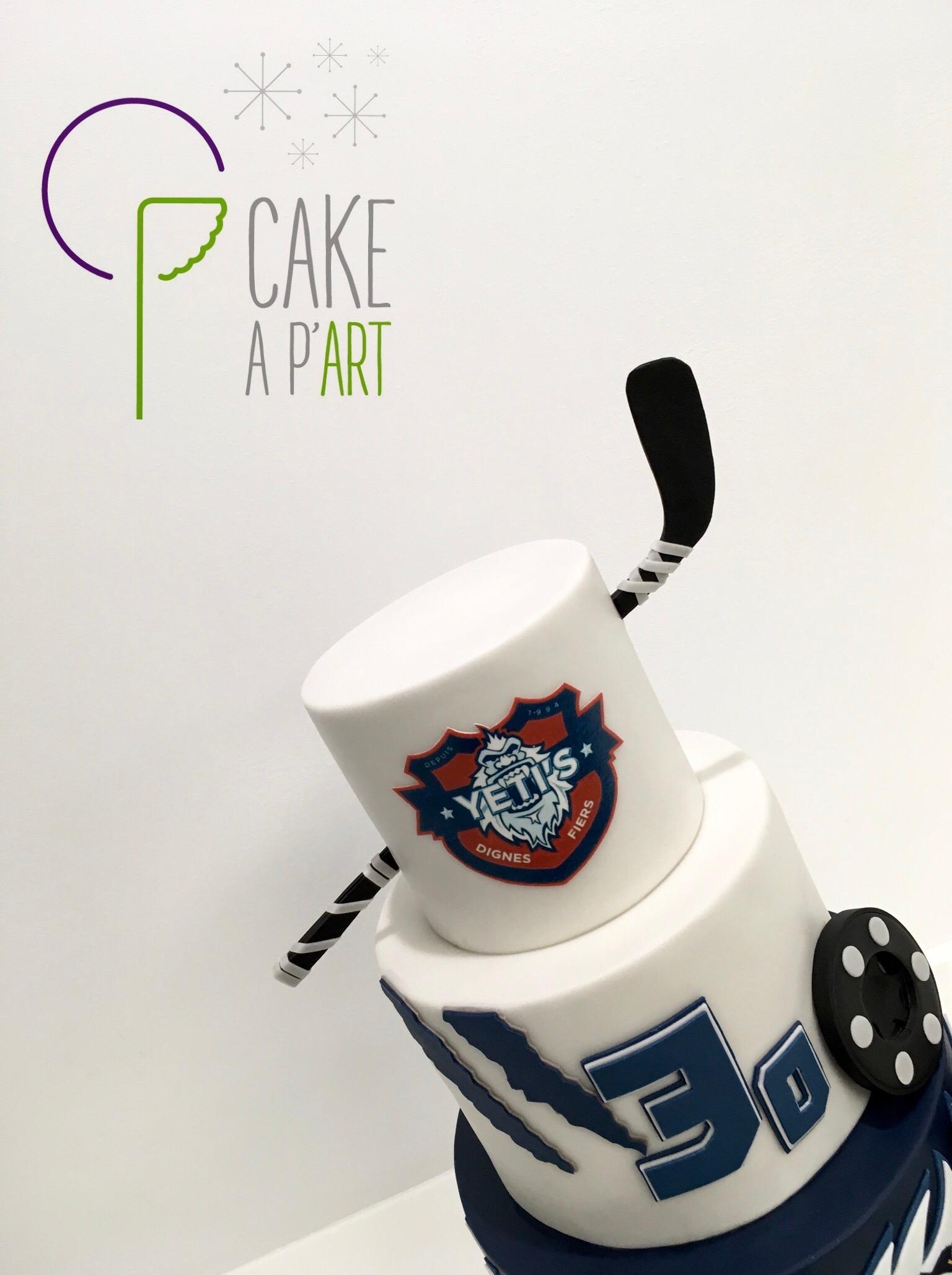 Gâteau sur mesure anniversaire adulte - Thème Roller hockey