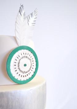 Décor modelage en sucre gâteaux personnalisés - Mariage Thème Indien graphique