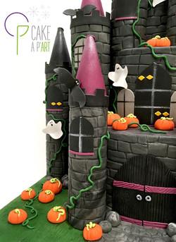 Décor modelage en sucre gâteaux personnalisés - Anniversaire Thème Halloween château hanté
