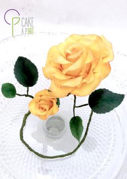 Décor en sucre gâteaux personnalisés - Mariage fleurs Rose