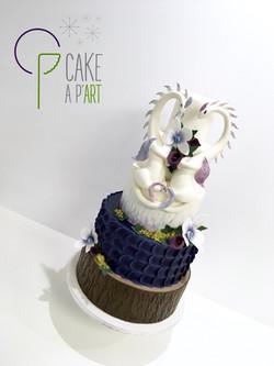 Décor modelage en sucre gâteaux personnalisés - Mariage Thème Dragons forêt fantasy