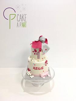 - Gâteau personnalisé anniversaire enfant - Thème Doudou nuages
