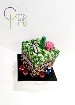 - Gâteau personnalisé anniversaire enfant - Thème Minecraft