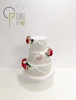 Wedding Cake Pièce montée Mariage - Thème Romantique Princesse et roses