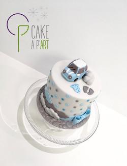 - Gâteau personnalisé babyshower enfant - Thème Mini cooper naissance