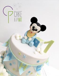 Décor modelage en sucre gâteaux personnalisés - Anniversaire Thème Mickey bébé