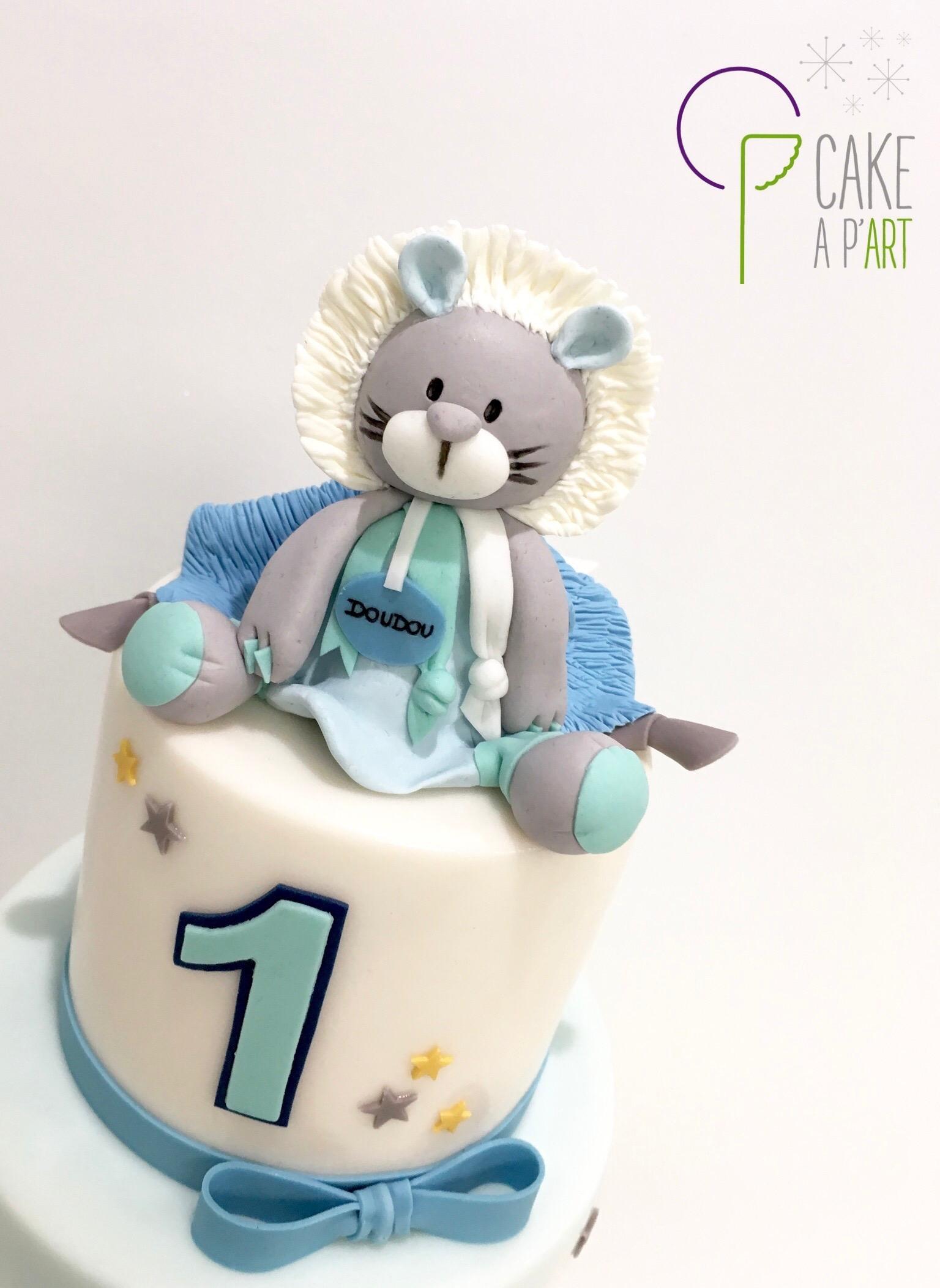Décor modelage en sucre gâteaux personnalisés - Anniversaire Thème Doudou veilleuse
