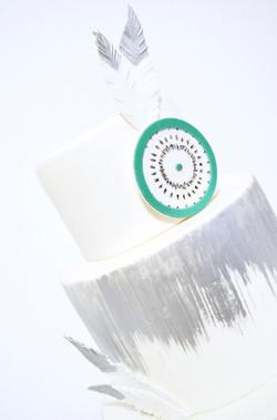 Gâteau Mariage Graphique - Cakeapart