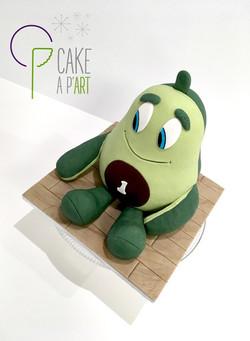 - Gâteau personnalisé anniversaire 3D enfant - Thème Doudou avocat et ses légumes