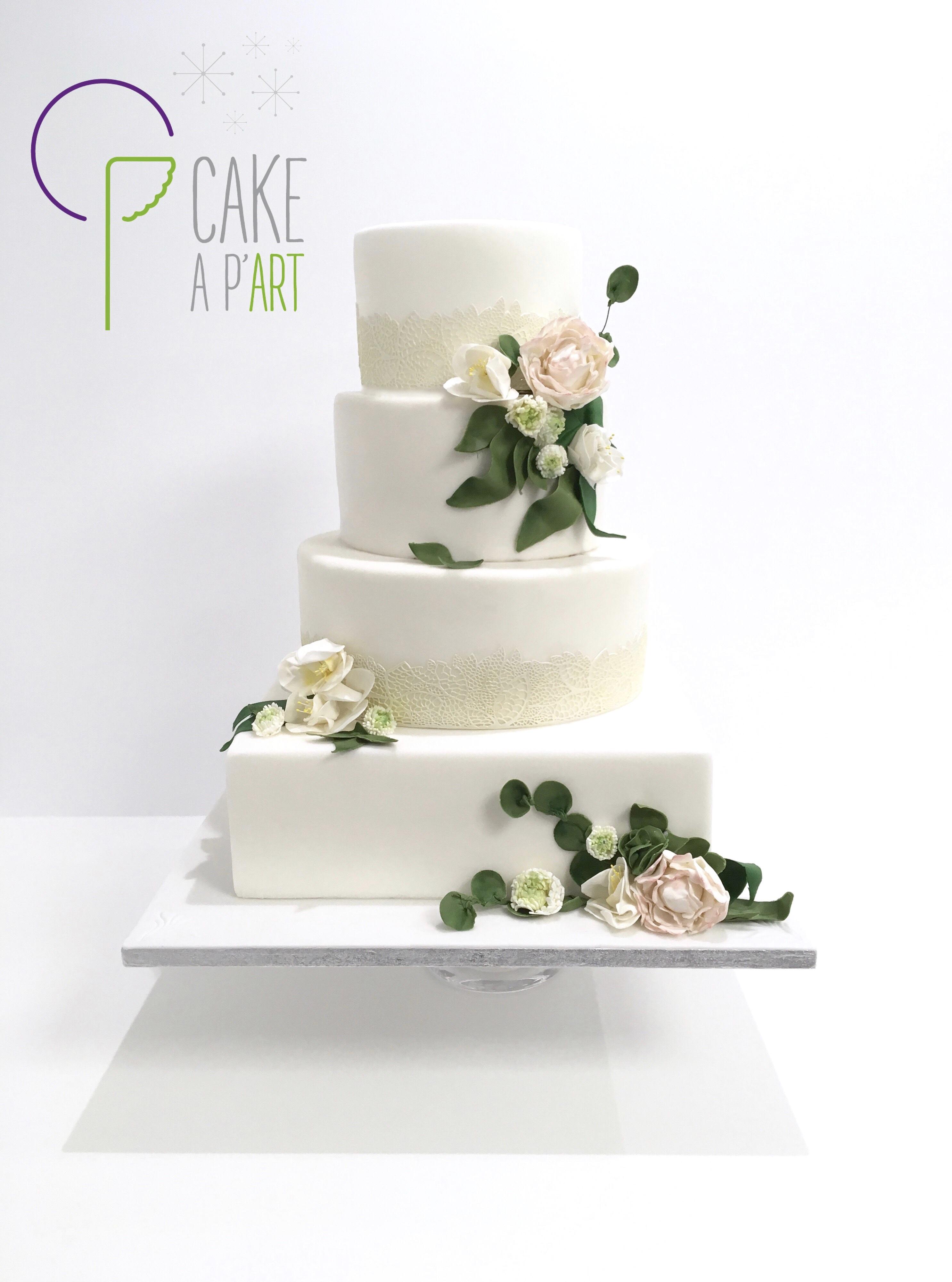 Gâteau Mariage Champêtre - Cakeapart