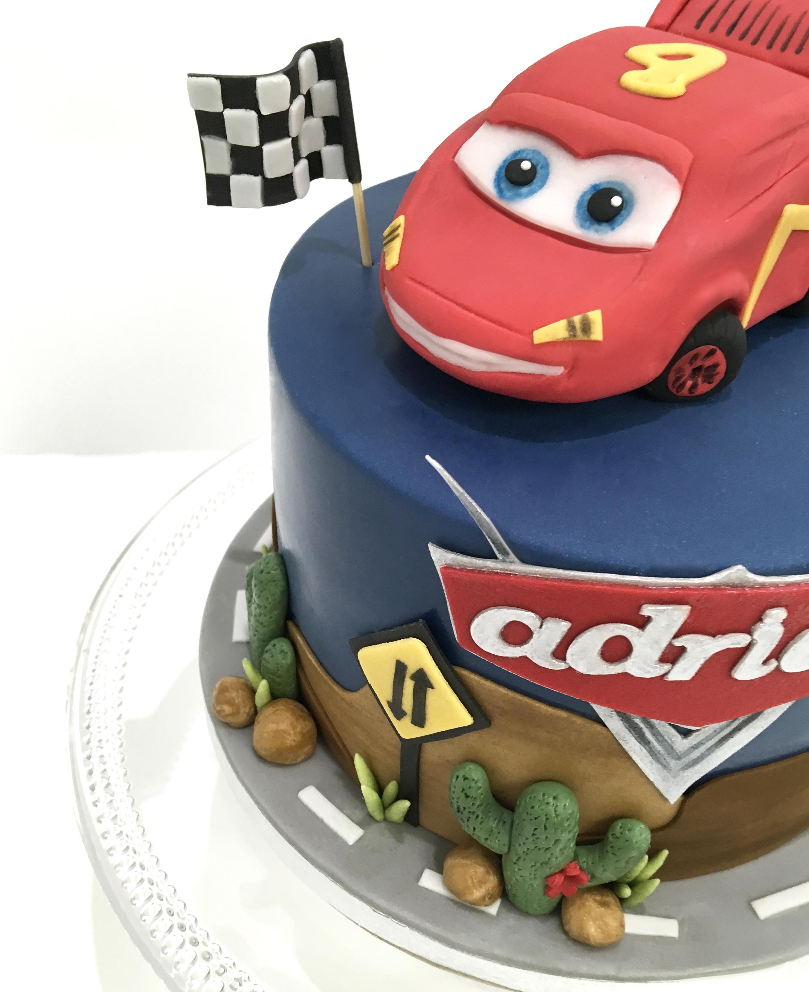 Décor modelage en sucre gâteaux personnalisés - Anniversaire Thème Cars