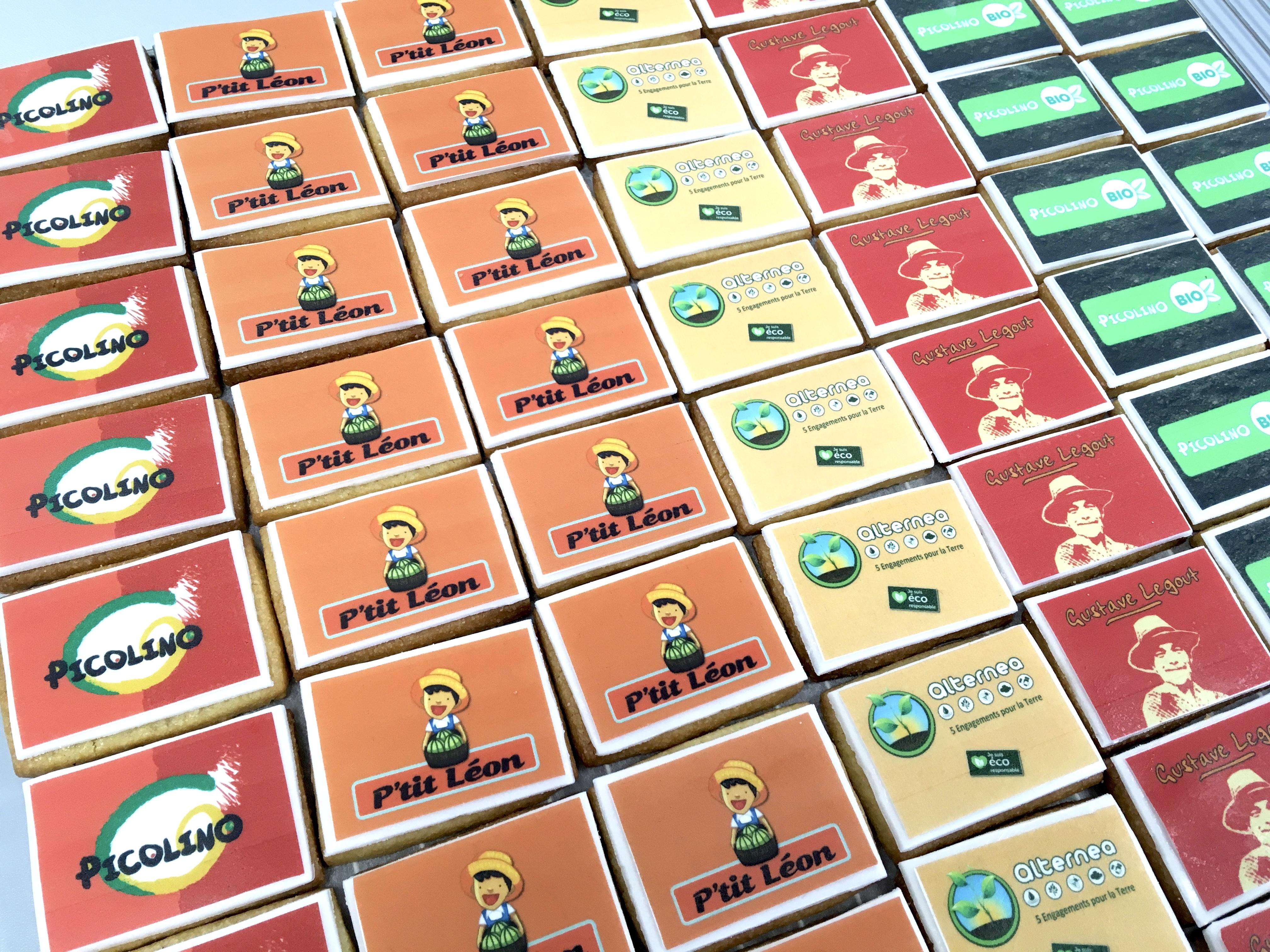 Gâteaux Food Marketing Entreprise - Sablés personnalisés logos fournisseurs Société Lacour Perpignan