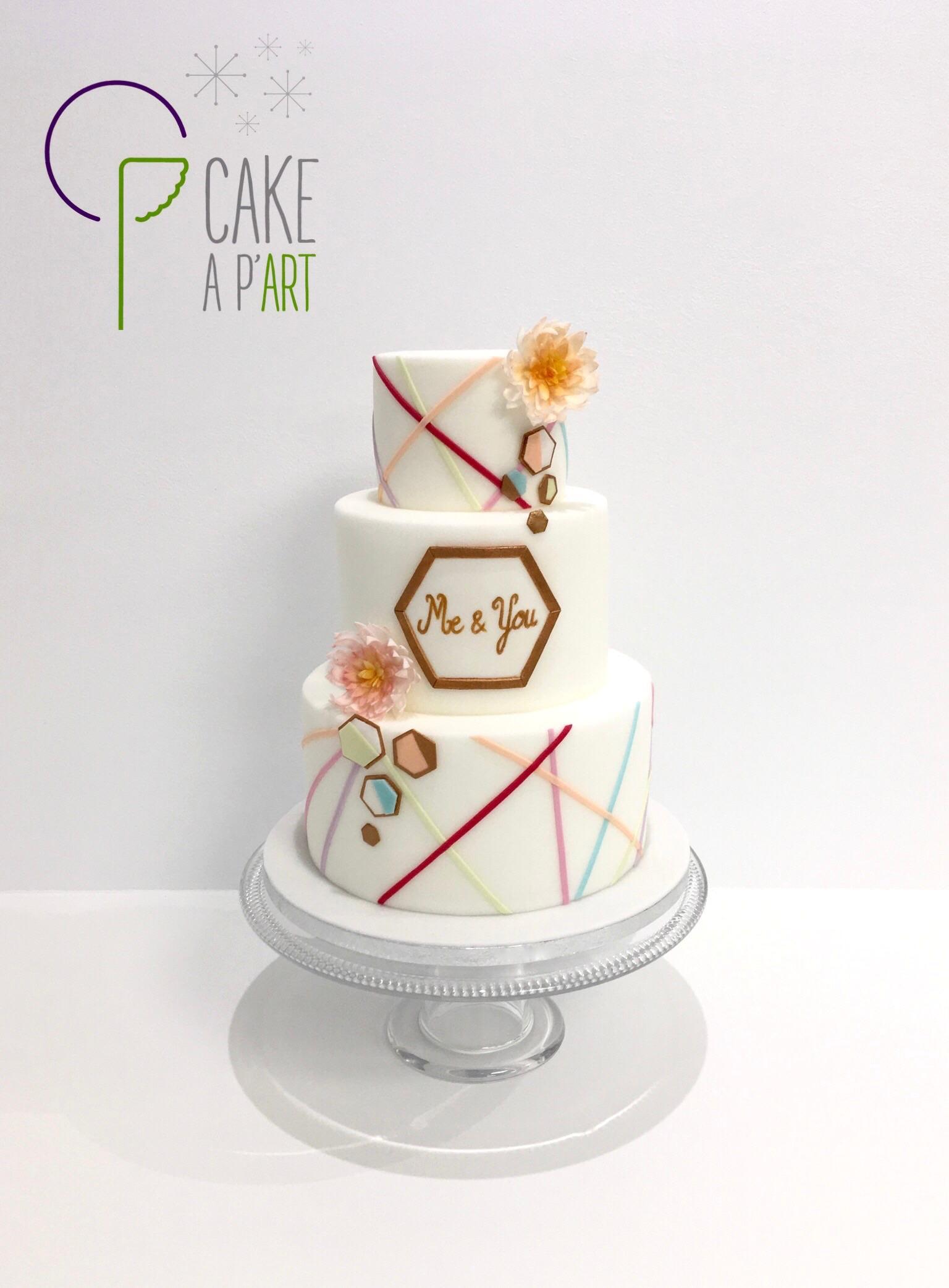 Gâteau Mariage - Pastel - Cakeapart