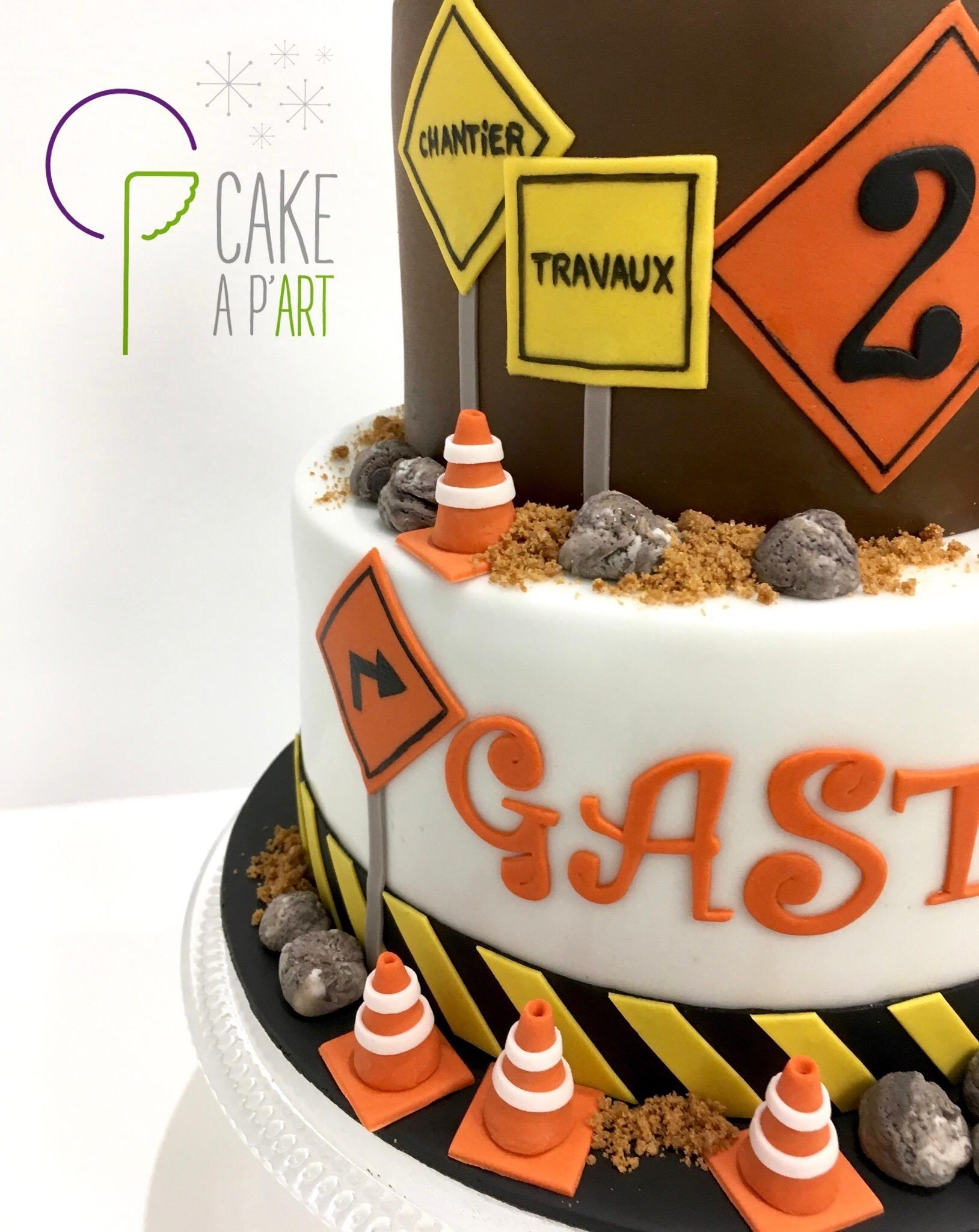 - Gâteau personnalisé anniversaire enfant - Thème Chantier
