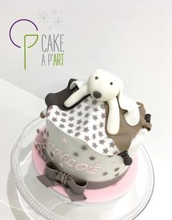 Décor modelage en sucre gâteaux personnalisés - Anniversaire Thème Doudou lapin
