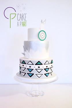 Wedding Cake Pièce montée Mariage - Thème Indien graphique