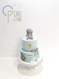 - Gâteau personnalisé anniversaire enfant - Thème Le Petit Prince Doudou Lapin Nuages