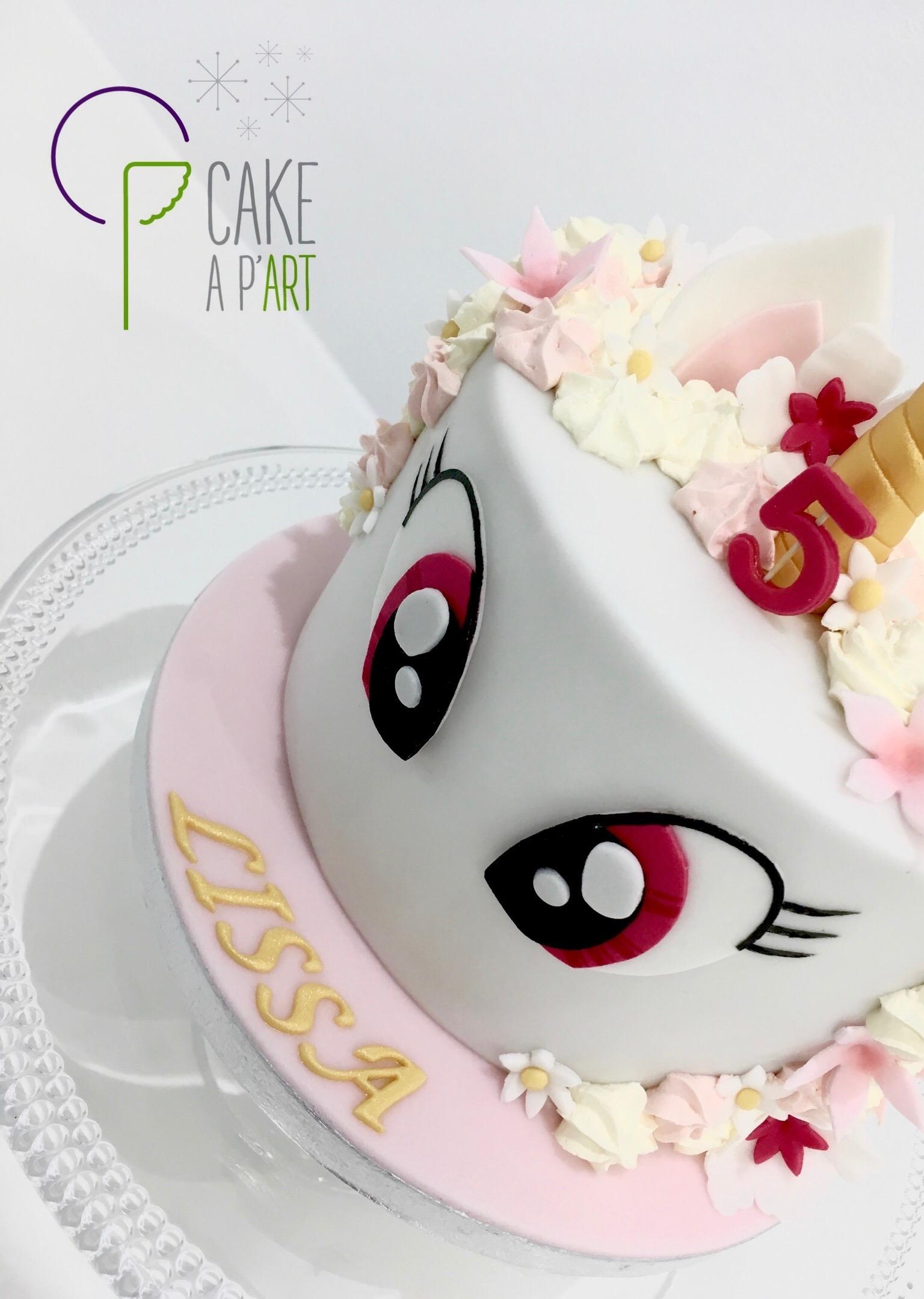 - Gâteau personnalisé anniversaire enfant - Thème Licorne cartoon