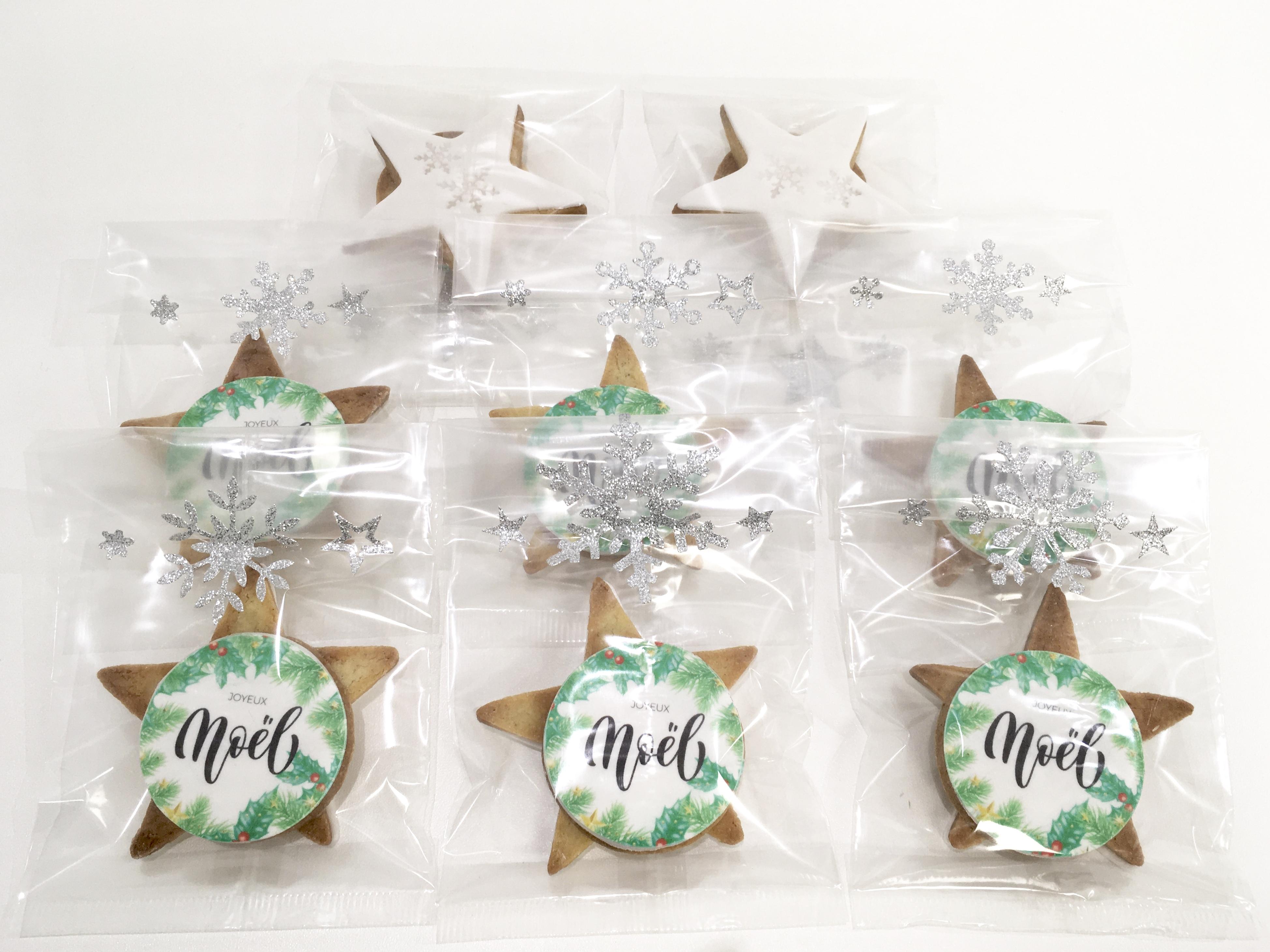 Gâteaux individuels personnalisés - Sablés décorés Noël