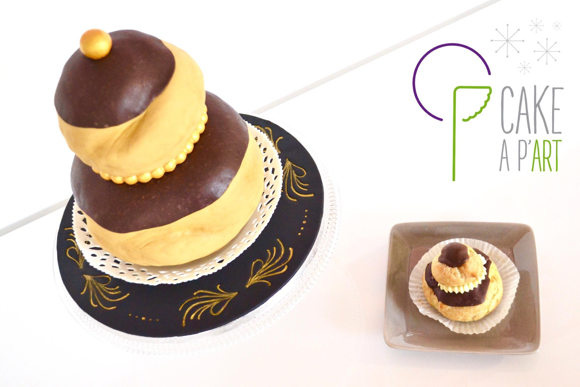 """Gâteau sur mesure 3D anniversaire adulte - Trompe l'oeil """"Religieuse"""""""