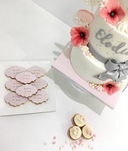 Gâteaux individuels personnalisés Anniversaire - Mini cupcakes et sablés décorés Thème Rose Gourmand