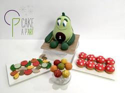 Gâteau sur mesure sculpté 3D anniversaire - Trompe l'oeil Reproduction Doudou Avocat