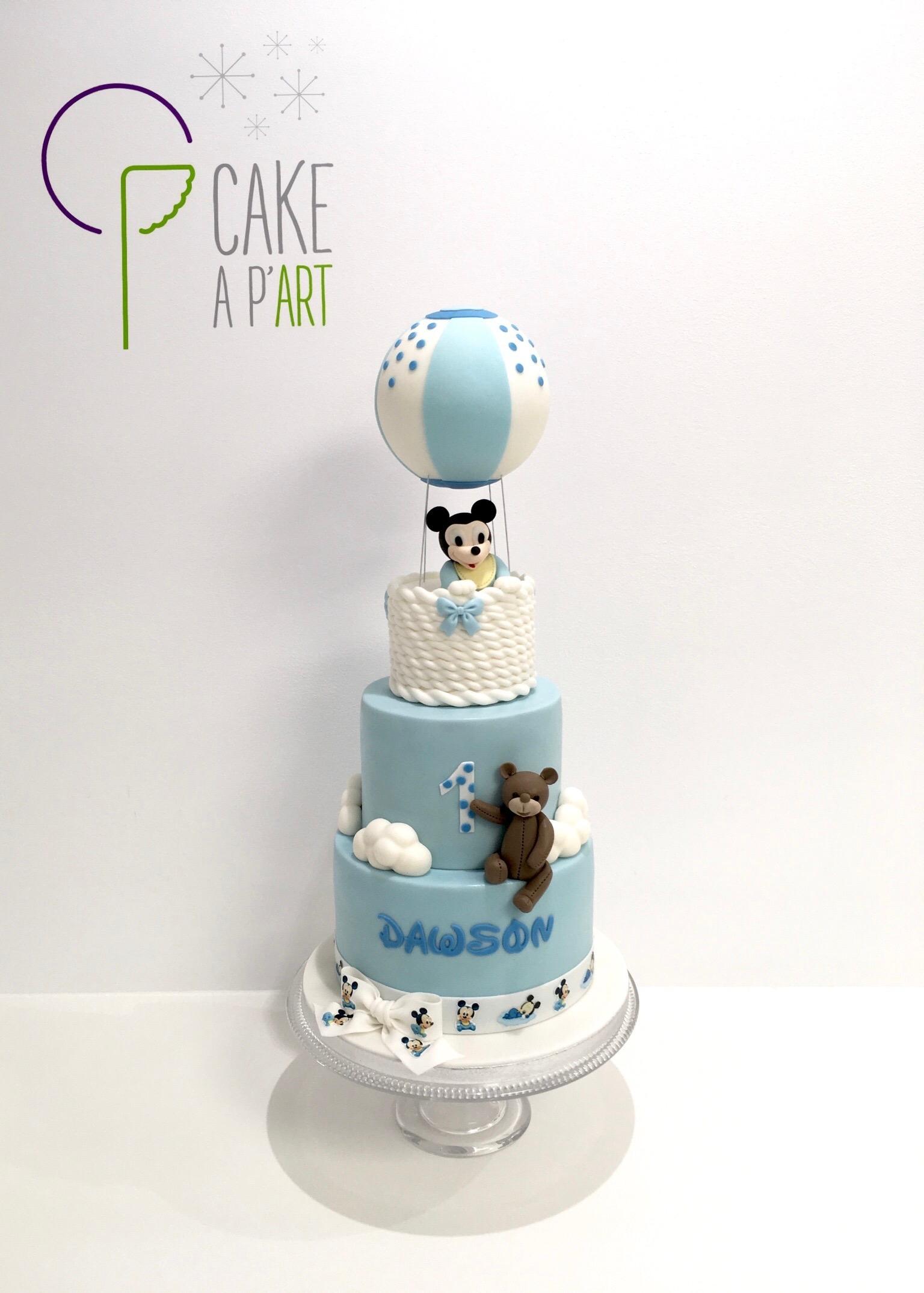 - Gâteau personnalisé anniversaire enfant - Thème Mickey bébé et ourson