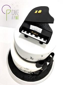 Décor modelage en sucre gâteaux personnalisés - Anniversaire Thème Musique et piano