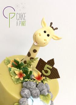 Décor modelage en sucre gâteaux personnalisés - Anniversaire Thème Savane Jungle Modelage Girafe