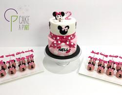 Gâteaux individuels personnalisés Anniversaire - Popcakes Thème Minnie